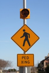 REAL PED XING ROAD STREET TRAFFIC SIGN