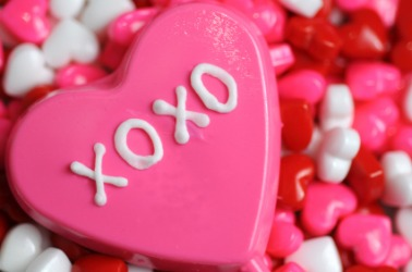 XO stands for hugs and kisses.
