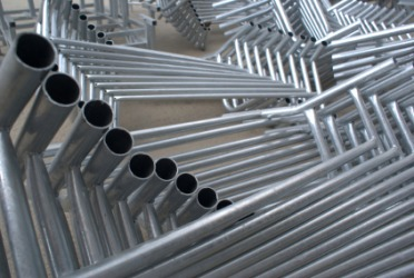 These galvanized rods are zincy.