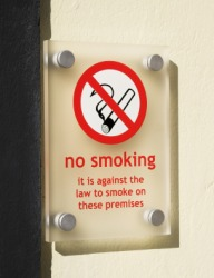 Smoking has been banned in this building.