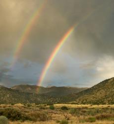 A beautiful double rainbow.