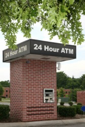 A drive-up ATM.