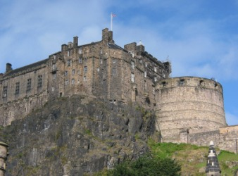 Edinburgh Castle Is A Fortress