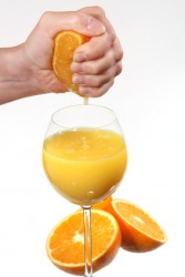 Fresh squeezed orange juice.