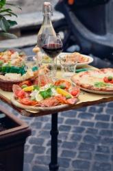Delicious Italian food.