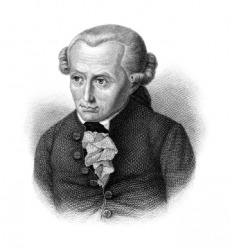 Immanuel Kant, the founder of Kantianism.