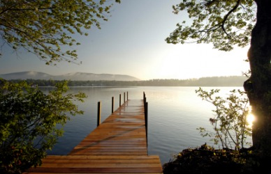 A limpid lake.