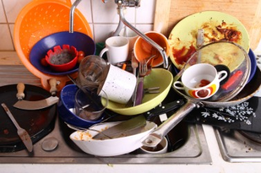 Washing these dishes will be quite an undertaking.