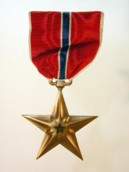 A soldier may be awarded a medal for valor.