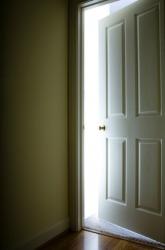 This door is ajar.