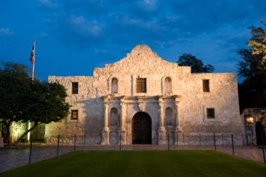 The famous Alamo mission in San Antonio.