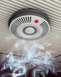 A smoke detector is a type of alarm.