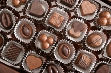 These chocolates are an example of confectioneries.