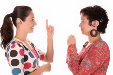 Sign language is used by people who are deaf.