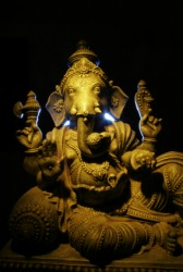 Ganesha is a Hindu god.