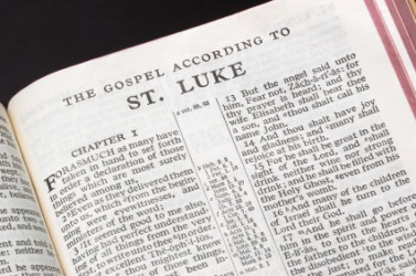 The Gospel accourding to Luke.