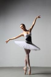 A ballet dancer is graceful.