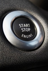 The ignition switch in an automobile.