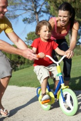 Kinesthetics is learning to ride a bike.