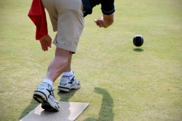 A rollling ball has kinetic energy.