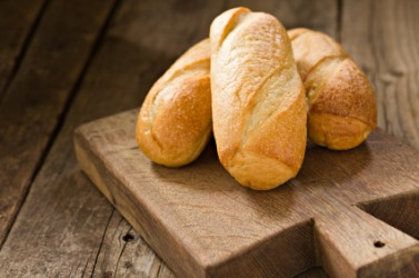 Three loaves of bread.