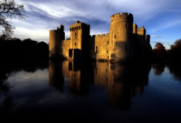 Bodiam is a medieval castle.