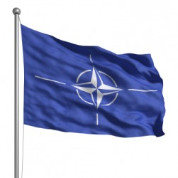 The flag of NATO.