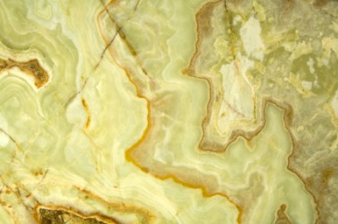 A piece of light green onyx.
