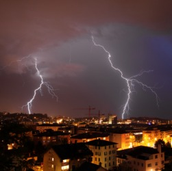 Thunderstorm dictionary definition | thunderstorm defined