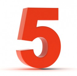 Five is a whole number.