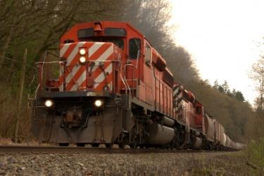 This train has a diesel engine.