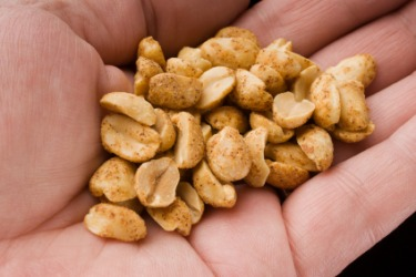A handful of peanuts.