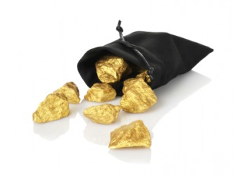 Gold is an example of a metal.