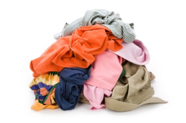 A pile of clothes.