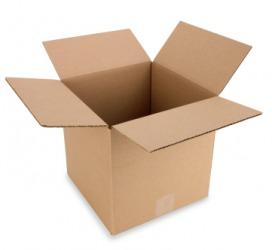 A simple cardboard box.