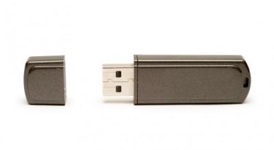 A USB flash drive.