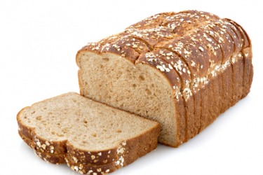 A loaf of whole grain bread.