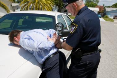 This man is under arrest.