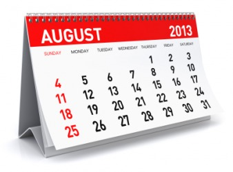 The month of August.