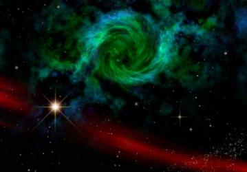 A representation of a black hole.