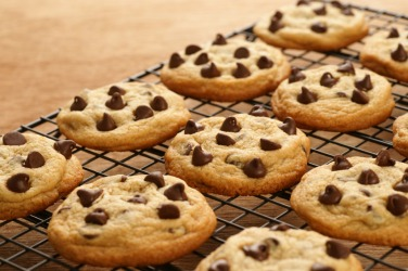 Fresh Baked Chocolate Chip Cookies.