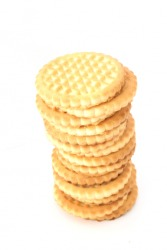 A stack of shortbread biscuits.