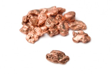 Pieces of copper.