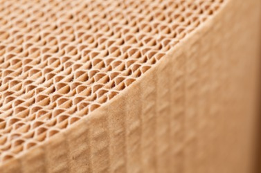 Rows of corrugated paper.