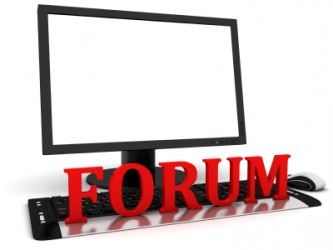 An online message board is an example of a forum.