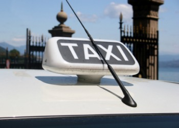The antenna on a taxi cab.