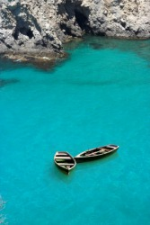 Two small boats adrift.