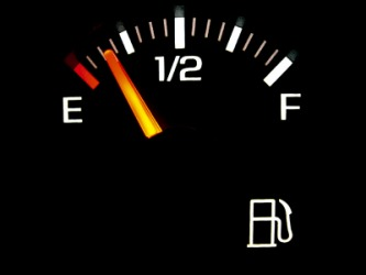 The gas gauge on an automobile.