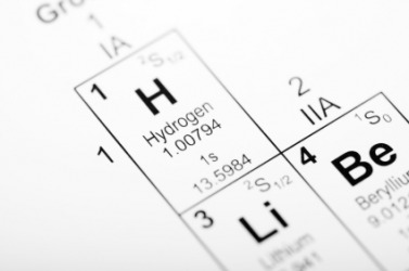 The element hydrogen on the periodic table.