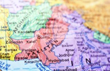 A map showing Pakistan.
